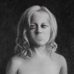 A Child Shall Lead Them 24 x 18 Charcoal